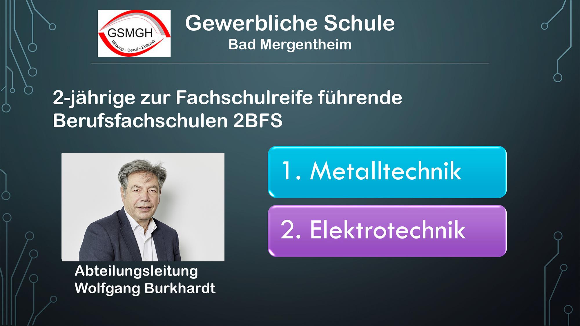 Präsentation zum Infotag der 2-jährigen BFS / 2021